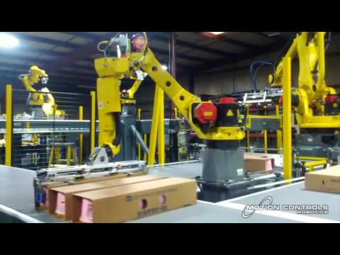 Robotic System for Layer Building and Palletizing Dairy Product - Motion Controls Robotics