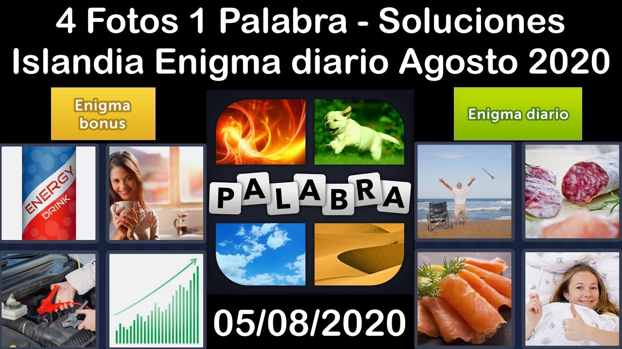 4 Fotos 1 Palabra - Islandia - 05/08/2020 - Agosto 2020 - Enigma diario + Enigma bonus - Solucion