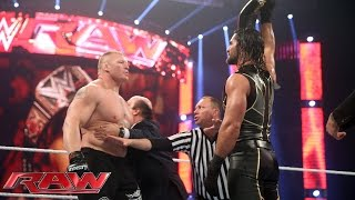 Download Seth Rollins vs Brock Lesnar - WWE World Heavyweight Championship Match: Raw, March 30, 2015 Mp3 and Videos