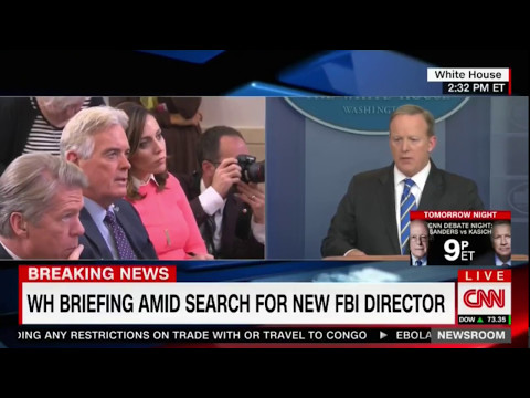 Sean Spicer White House Briefing on Russia, Cyber attacks, New FBI director 5/15/17