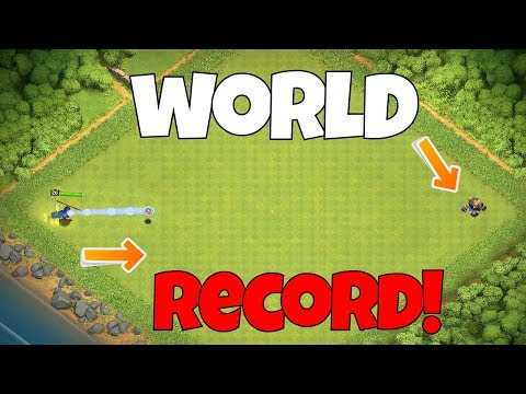 FARTHEST SHIELD THROW In Clash Of Clans!!