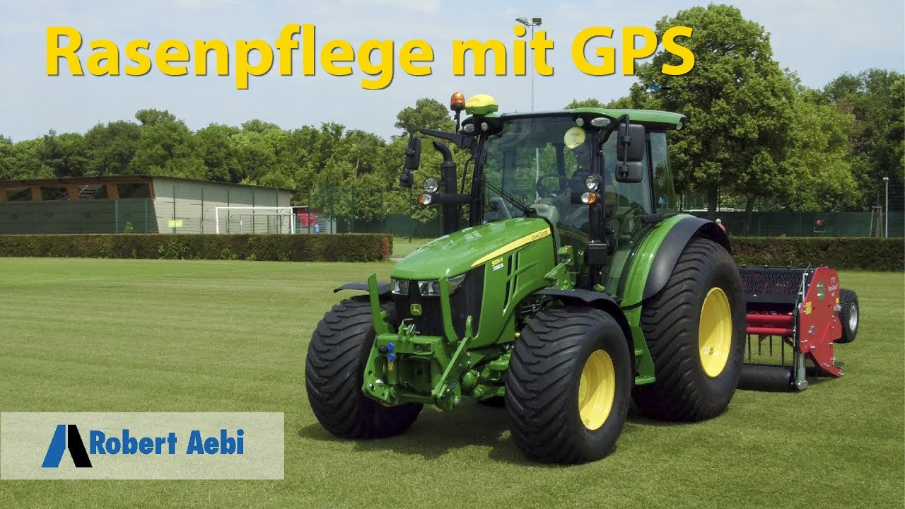 robert aebi rasenpflege mit gps john deere ams youtube. Black Bedroom Furniture Sets. Home Design Ideas