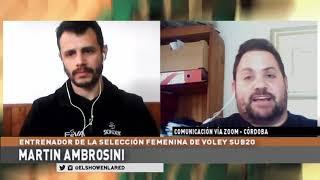 Selección Argentina de Voley   MArtin Ambrosini encardado del Sub 20 en El Show En La Red 07 09 2020