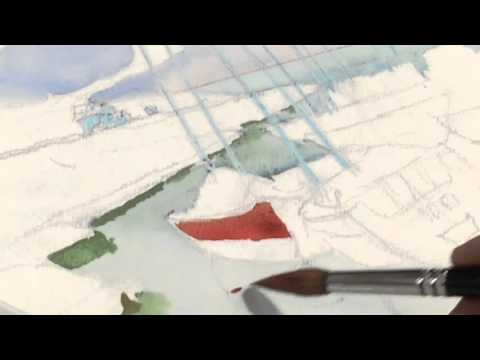 PREVIEW-Painting-Watercolor-Landscape with Sailboats-Part 1