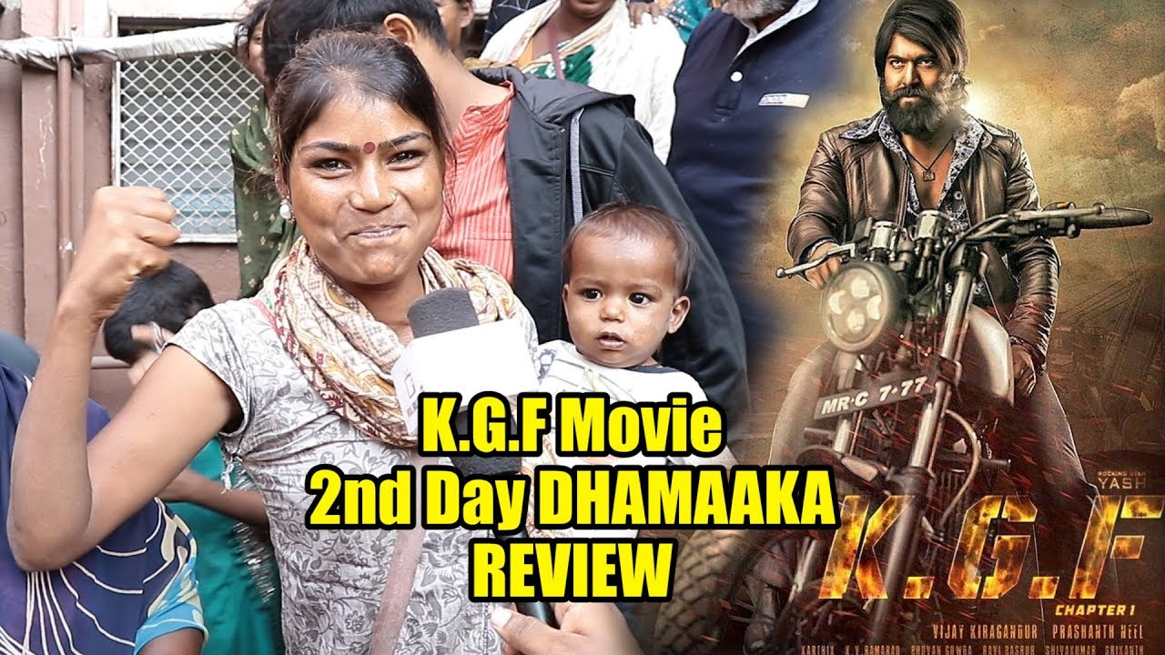 Kgf Movie Second Day Dhamaka Review Kgf Hindi Review Youtube