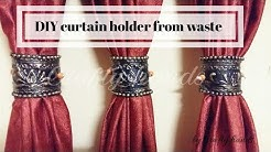 DIY curtain holder/ best out of waste idea by Crafty hands