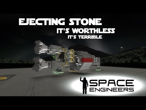 Space Engineers Planet Survival Ep 15 - Redesigning the Mining Ship to Eject Stone