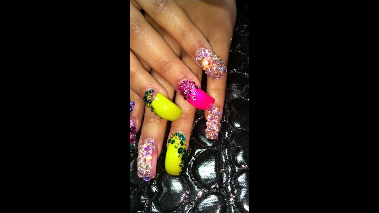 eagle blinged claw nails