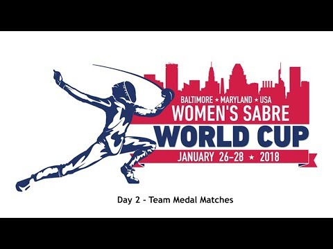 Baltimore Women's Sabre World Cup 2018 Team Medal Matches