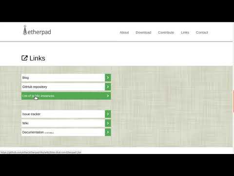 Teletraballo: Pílula sobre Etherpad