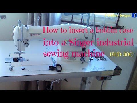 how to insert bobbin in singer sewing machine