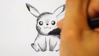 [Ink Dot Art] Speed Drawing Pikachu - Pokemon (Shin Art)