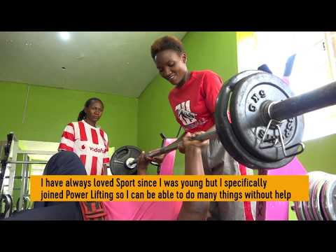Kyalimpa Vesta Uganda's para Power Lifter Hands of steel