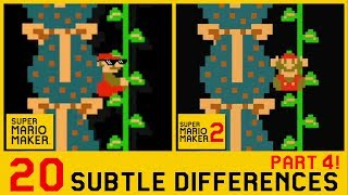 20 Other Subtle Differences between Super Mario Maker 2 and SMM1 (4/4)