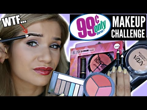 Thumbnail: FULL FACE Using ONLY 99 CENTS STORE MAKEUP Challenge!