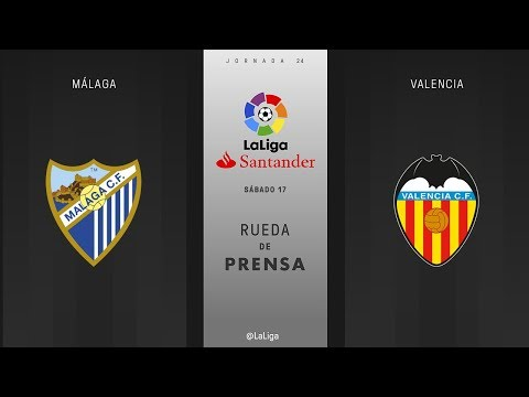 Rueda de prensa Málaga vs Valencia