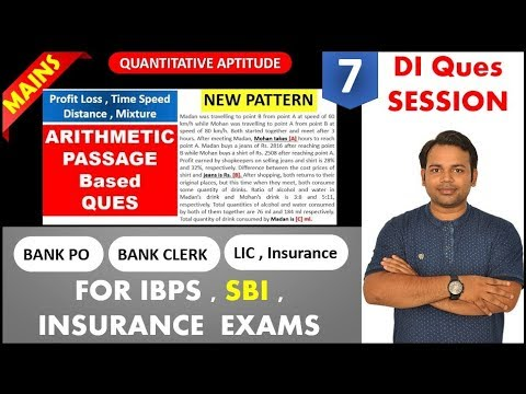 Arithmetic Fill in Blank Passage Q [NEW PATTERN ] Quantitative Problem for  MAINS exam , SBI , IBPS