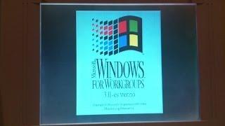 Packard Bell Statesman laptop bootolás (MS-DOS 6.22, Windows 3.11)