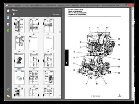 [DIAGRAM_38DE]  Deutz Engine 912 / 913 - Service Manual - Parts Manual - (English, French,  German, Italian, Spanish) - YouTube   Deutz Engine Diagram      YouTube