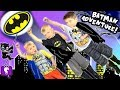 Big BATMAN Adventure Journey! Scavenger Clues to The BAT Cave + Toy SURPRISES HobbyKidsTV