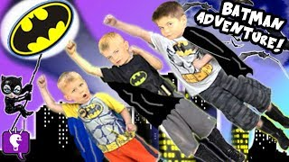 Big BATMAN Adventure Journey to find Toy SURPRISES by HobbyKidsTV
