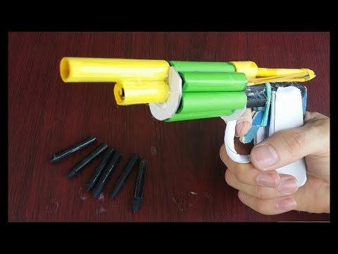 How to make a paper revolver that shoots new amazing paper surprise