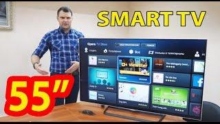 55 дюймов удовольствия! Обзор смарт 4K телевизора с активным 3D и Opera TV Store.
