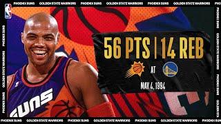 Charles Barkley Has Career-High 56-PT Night   #NBATogetherLive Classic Game
