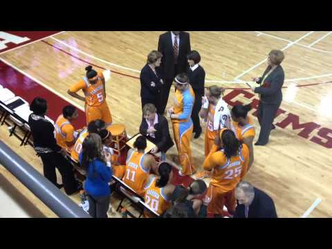 Pat Summitt coaches Lady Vols at Alabama 2012