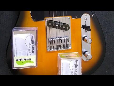 Instalação de Captadores Sergio Rosar Hot 44 em Telecaster Squier Fender Afinity