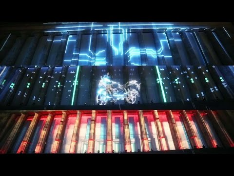 Hero Moto Corp, 3D Building projection mapping, University of Buenos Aires, Argentina
