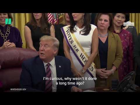 President Donald Trump's Women's Rights Flub