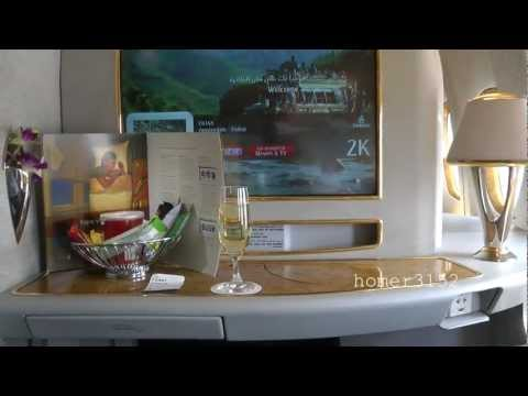 Emirates Airline First Class Private Suites Flight Amsterdam-Dubai (the movie)
