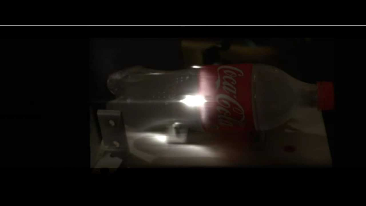 Laser pulse shooting through a bottle and visualized at a trillion ...