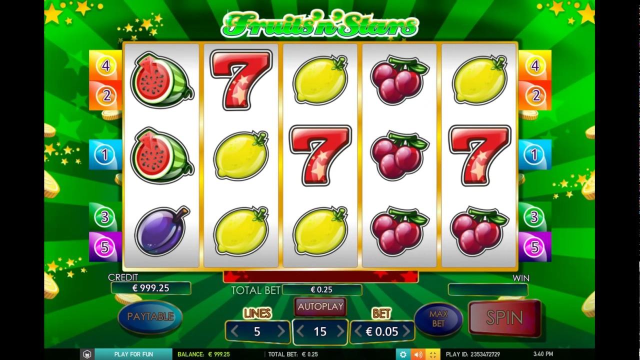 fruitsnstars описание игрового автомата