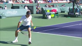 Thiem Wins EPIC Point vs Federer In Indian Wells Final | Indian Wells 2019 Video