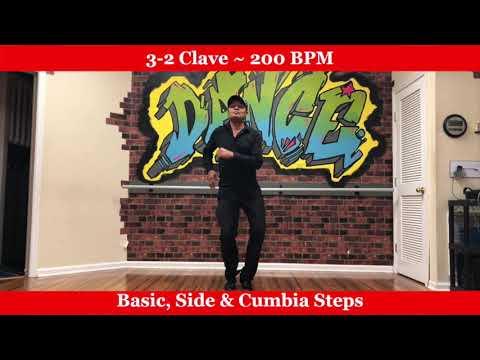 Salsa Dance for Beginners - Rhythm 3-2 Clave - 200 BPM