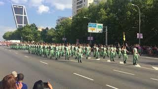La Legión española y Regulares Desfile 12 octubre 2017 Madrid - Día Hispanidad