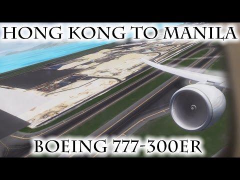 FSX | Hong Kong (VHHH) to Manila (RPLL) | 777-300ER