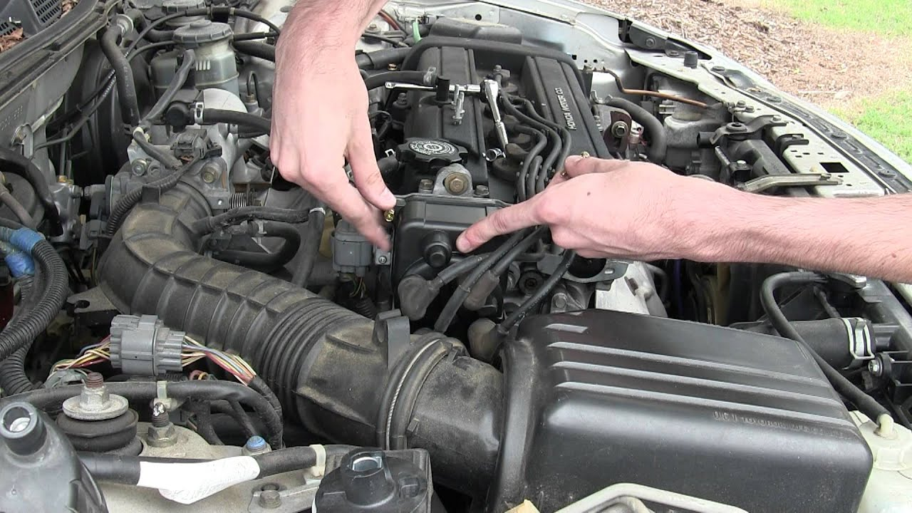 Replacing Distributor Cap On An Integra Youtube 2000 Spark Plug Wiring Diagram