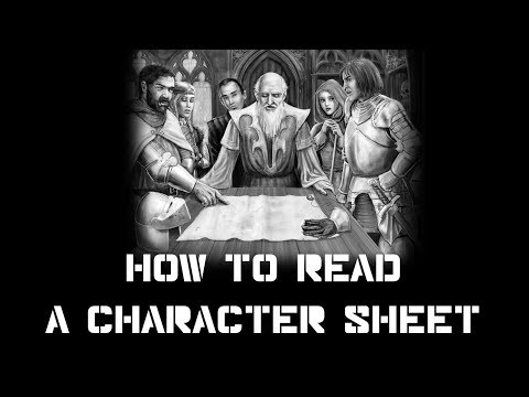 A basic intro to Character Sheets (D&D 5E) : Roleplaying games