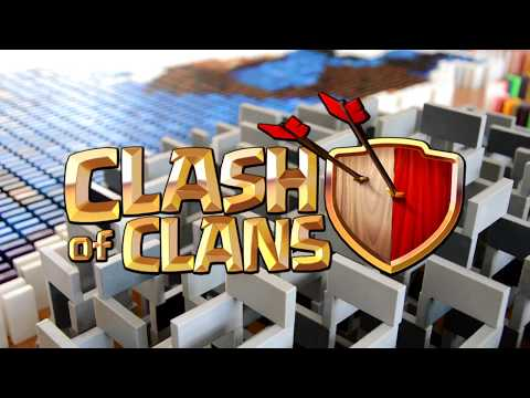 Clash of Clans in 100,000 Dominoes