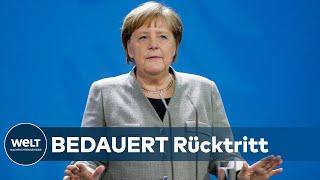 CDU-BEBEN: Das sagt Angela Merkel zum überraschenden AKK-Rückzug