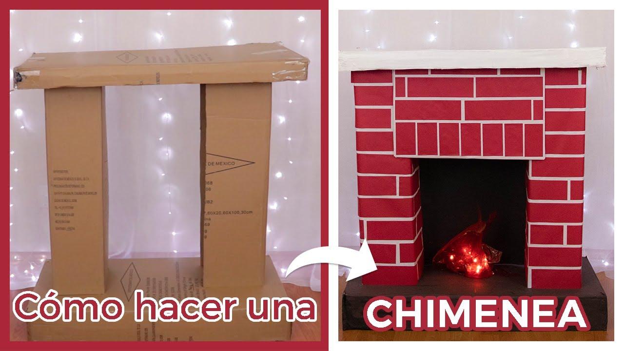 Cómo Hacer Una Chimenea De Cartón Fácil Decoración Navidad Youtube