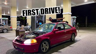 RICER CIVIC GSR SWAP FIRST RIPS!