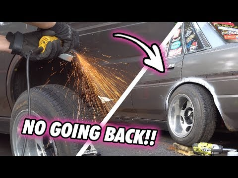 NO GOING BACK!! // Cutting Into My MX73 Cressida // Fender Flare Install (PT. 1)