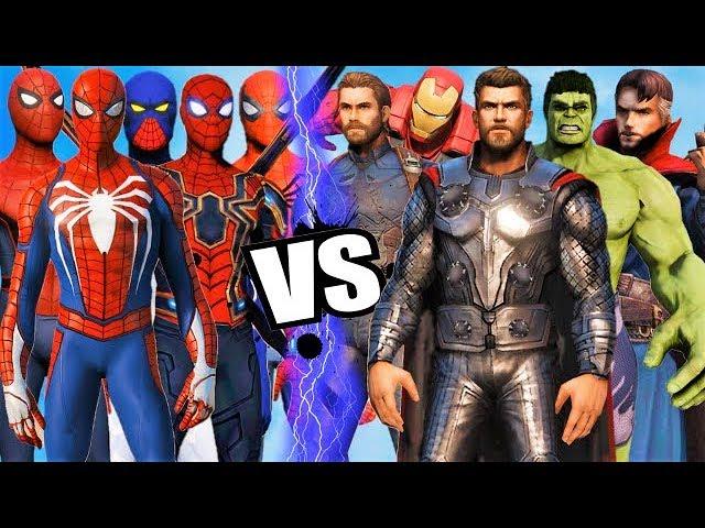 THE AVENGERS Vs ALL SPIDERMAN SUIT - Hulk, Iron Man, Captain America, Black Widow, Thor, DrStrange #1