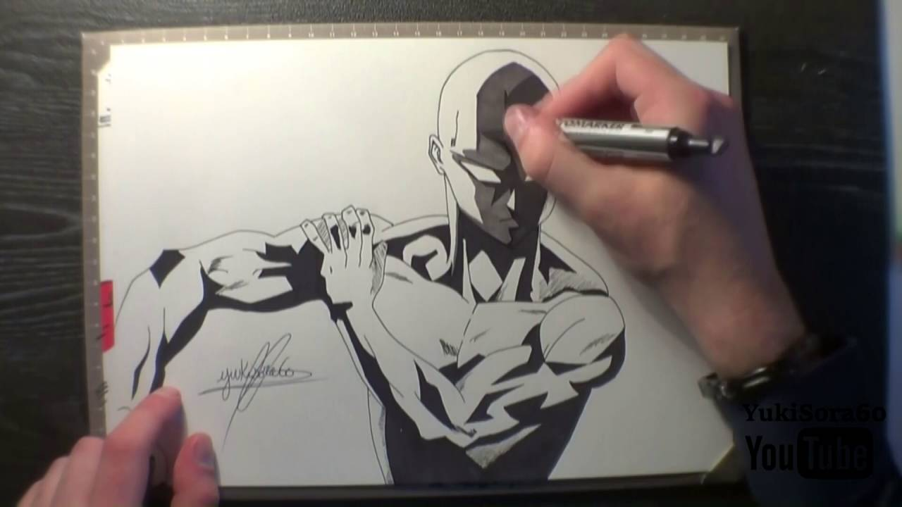 One Punch Man Dessin De Saitama Youtube