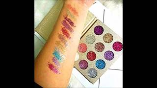 BEAUTY SEQUINS Eyeshadow Palette Ultra Pigmented Mineral Pressed Glitter Make Up Palettes Flash Colo