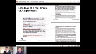 How to review Oracle ULA contract